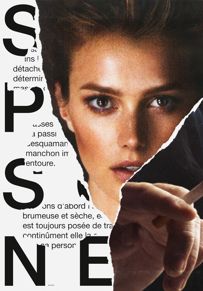 Poster Marie Disle cigarette Francis Ponge poem ecal