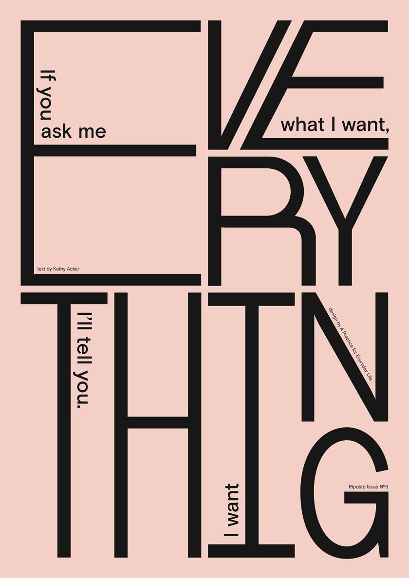 Poster everything Marie Disle Apfel Riposte