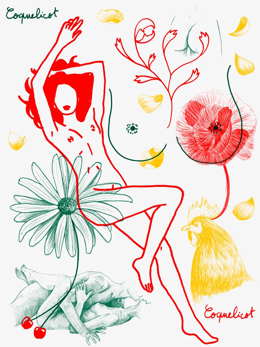 illustration la fille zebree Marie Disle